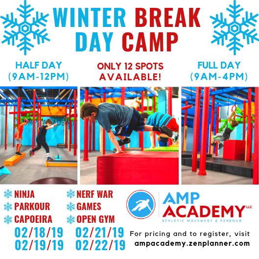 Winter Break Day Camps! Ninja Warrior, Parkour, Martial