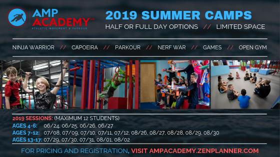 2019 Summer Camps! Ninja Warrior, Parkour, Martial Arts (Capoeira